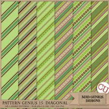 Pattern Genius Paper Volume Fifteen by Mad Genius Designs