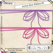 Action Bow Ribbon 02 by Cida Merola