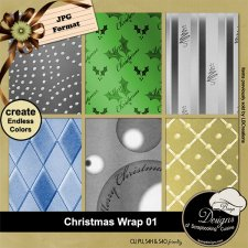 Christmas Wrap 01 - Overlay PAPERS by Boop Designs
