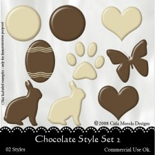Chocolate Style Set 2 by Cida Merola