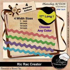 Ric Rac Ribbon Creator ACTION by Boop Designs