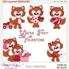 Foxy Valentine Layered Element Templates