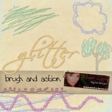 Glitter Brush and Action by Monica Larsen