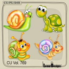 CU Vol 769 Snails by Lemur Designs