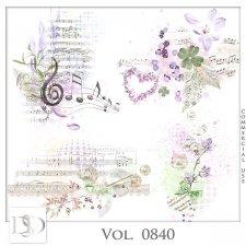 Vol. 0840 Floral Music Accents by D's Design