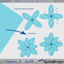 Flowers 14 Action by Mandog Scraps