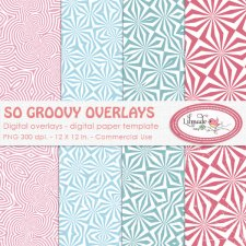 So groovy overlays digital paper templates Lilmade Designs