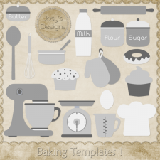 Baking Layered Templates 1 by Josy