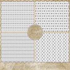 Layered Paper Templates 14 by Josy