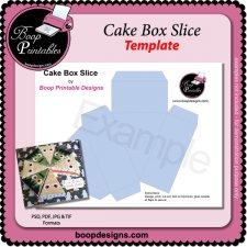 Cake Treat Box Slice TEMPLATE by Boop Printable Designs