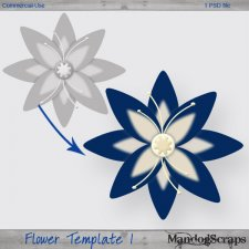 Flower Template 1 by Mandog Scraps