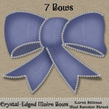 Crystal-Edged Moire Bows by Karen Stimson