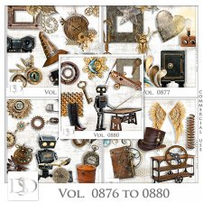 Vol. 0876 to 0880 Steampunk Mix by D's Design
