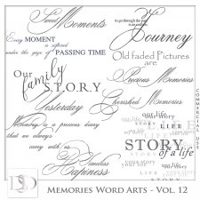 Memories Word Arts Vol 12 by D's Design