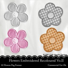 Flower Embroidered Vol.II by Cida Merola