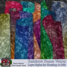 Rainbow Velour Layer Styles by Karen Stimson