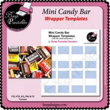 Mini Sized Candy bar Wraps by Boop Printable Designs