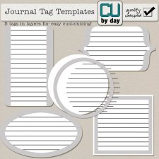 Layered Journal Tags - CUbyDay EXCLUSIVE