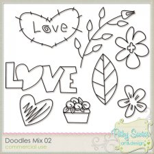 Doodles Mix 02 - Flower Love by Pathy Design