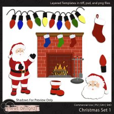 EXCLUSIVE Layered Christmas Templates By NewE Designz