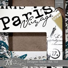 Designer Stash Vol 132 - French Frames by Feli Designs