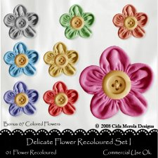 Delicate Flower Set. I by Cida Merola