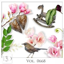 Vol. 0668 to 0672 Nature Floral Mix by D's Design