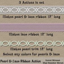 Pearl & Lace Ribbon Action by Karen Stimson