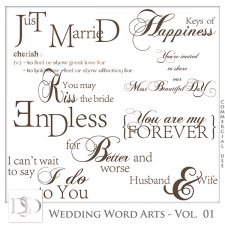 Wedding Word Arts Vol 01 by D's Design