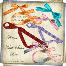 Action - Triple Satin Bow by Rose.li