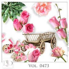 Vol. 0473 Roses Nature Mix by D's Design