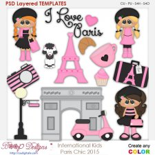 International Kids - Paris Chic Layered Element Templates
