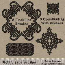 Gothic Lace Brushes by Karen Stimson