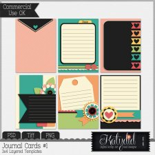 Journal - Pocket Cards Layered Templates Pack No 1 by Katydid