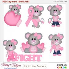 Think Pink Mice 2 Layered Element Templates