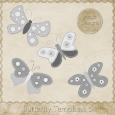 Butterfly Layered Templates 5 by Josy