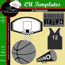 Basketball Layered TEMPLATE by Boop Designs