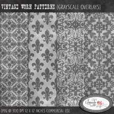 Vintage worn overlays Lilmade Designs