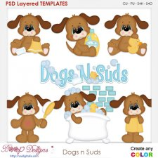 Dogs n Suds Layered Element Templates