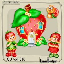 CU Vol 616 Strawberry Mix by Lemur Designs
