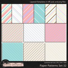EXCLUSIVE Layered Paper Patterns Templates Set 32 by NewE Designz