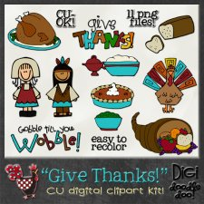 Give Thanks Thanksgiving CU clipart