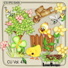 CU Vol 479 Summer Forest Flowers by Lemur Designs