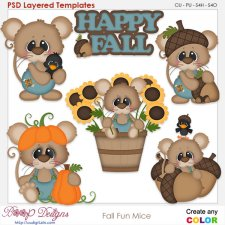 Fall Fun Mice Element Templates
