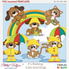Its Raining for Cats and Dogs Layered Element Templates