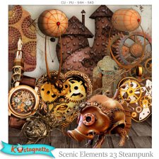 Scenic Elements 23 Steampunk by Kastagnette