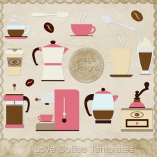 I Love Coffee Layered Templates by Josy