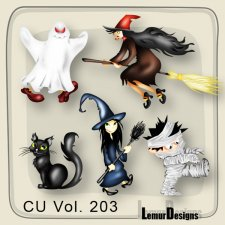 CU Vol 203 Halloween Pack 2 by Lemur Designs