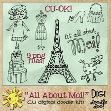 All About Moi Fun French themed CU doodles