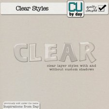 Clear Styles - CUbyDay EXCLUSIVE